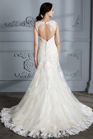 Mermaid Sweetheart Sleeveless Lace Court Train Wedding Dress - 2