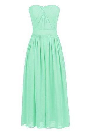 Elegant & Luxurious Natural Waist A-Line Chiffon Zipper Up Bridesmaid Dress - 1