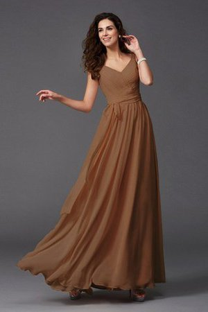 Sashes Floor Length Spaghetti Straps A-Line Bridesmaid Dress - 7