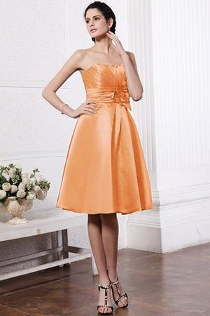 Zipper Up Princess Short Flowers Pleated Bridesmaid Dress - 19
