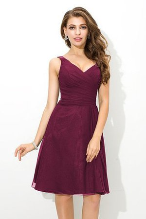 Chiffon Princess Sleeveless Natural Waist Draped Bridesmaid Dress - 5