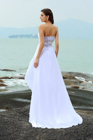 Zipper Up Princess Sweetheart Sleeveless Empire Waist Wedding Dress - 2