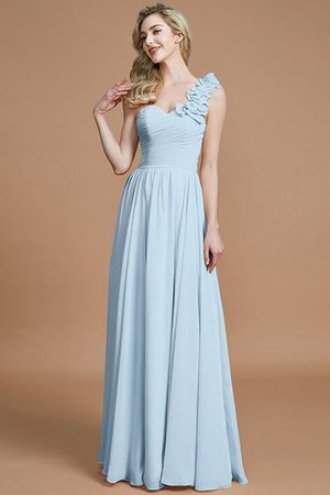 Sleeveless Natural Waist One Shoulder A-Line Chiffon Bridesmaid Dress - 23