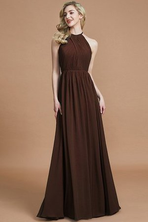 Sleeveless Floor Length A-Line Scoop Bridesmaid Dress - 12