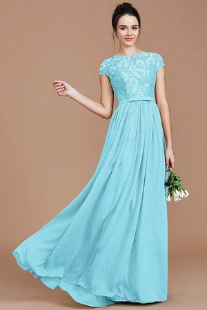 A-Line Jewel Lace Short Sleeves Bridesmaid Dress - 8
