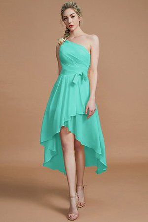 Asymmetrical Chiffon Natural Waist Bridesmaid Dress - 20