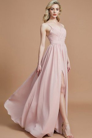 Natural Waist Sleeveless Floor Length Princess Chiffon Bridesmaid Dress - 5