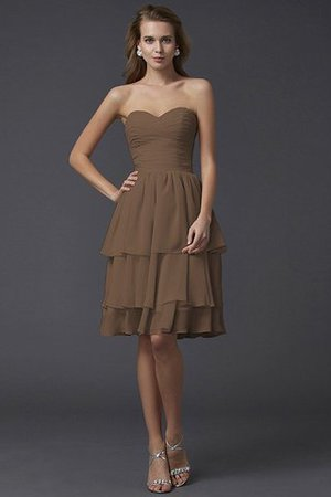 Short Chiffon Sheath Sleeveless Zipper Up Bridesmaid Dress - 3