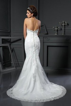 Long Court Train Sweetheart Sleeveless Zipper Up Wedding Dress - 2