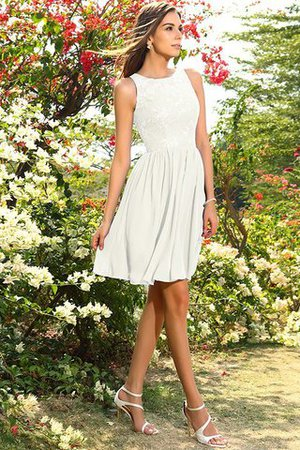 A-Line Natural Waist Sleeveless Chiffon Short Bridesmaid Dress - 16