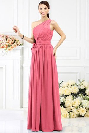 Long Sleeveless A-Line One Shoulder Bridesmaid Dress - 29