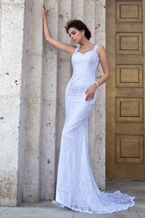Zipper Up Court Train Sheath Sleeveless Long Wedding Dress - 1