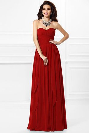 A-Line Zipper Up Long Floor Length Bridesmaid Dress - 21