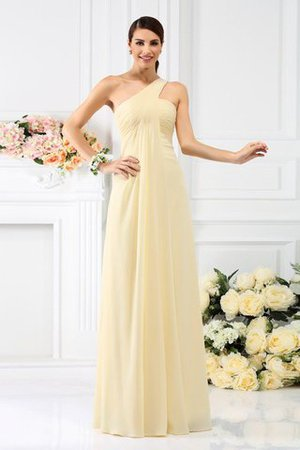 Zipper Up Long Floor Length A-Line Bridesmaid Dress - 1