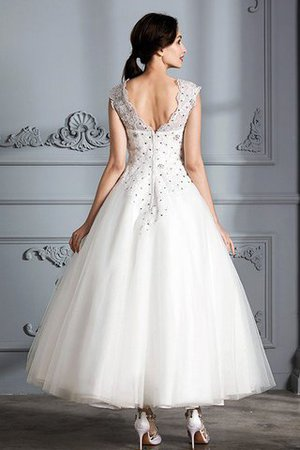 Scoop Sleeveless Ball Gown Tulle Natural Waist Wedding Dress - 2