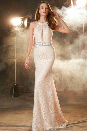 Sheath Floor Length Natural Waist Sleeveless Zipper Up Prom Dress - 1