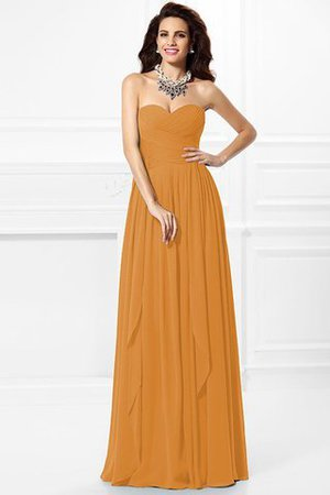 A-Line Zipper Up Long Floor Length Bridesmaid Dress - 22