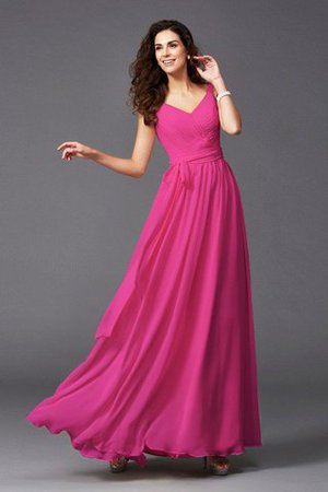 Sashes Floor Length Spaghetti Straps A-Line Bridesmaid Dress - 28