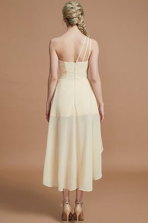 Asymmetrical Chiffon Natural Waist Bridesmaid Dress - 35