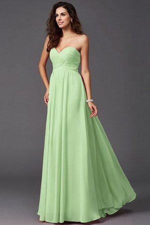 A-Line Sleeveless Chiffon Empire Waist Bridesmaid Dress - 25