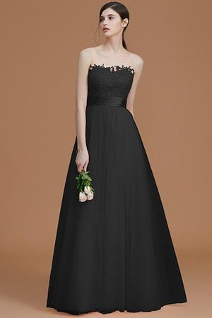 Tulle Zipper Up A-Line Appliques Bridesmaid Dress - 9