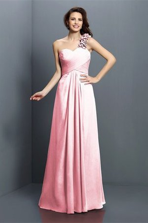 Zipper Up One Shoulder Chiffon A-Line Bridesmaid Dress - 22