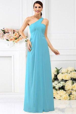 Zipper Up Long Floor Length A-Line Bridesmaid Dress - 3