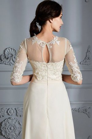 Natural Waist A-Line Scoop Half Sleeves Wedding Dress - 8