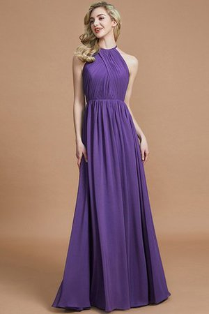 Sleeveless Floor Length A-Line Scoop Bridesmaid Dress - 29