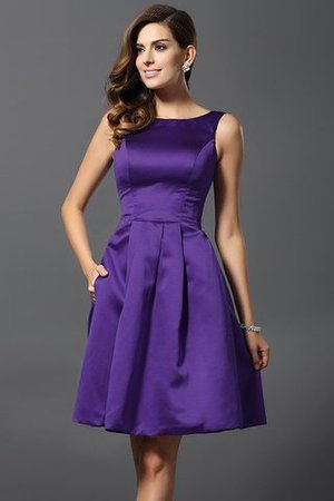 A-Line Knee Length Natural Waist Bridesmaid Dress - 24