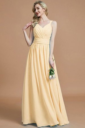 Sleeveless Natural Waist A-Line V-Neck Bridesmaid Dress - 12