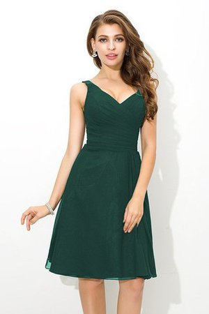 Chiffon Princess Sleeveless Natural Waist Draped Bridesmaid Dress - 9