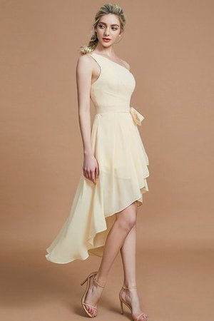 Asymmetrical Chiffon Natural Waist Bridesmaid Dress - 5
