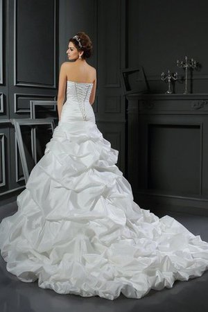 Sleeveless Flowers Long Ball Gown Lace-up Wedding Dress - 2