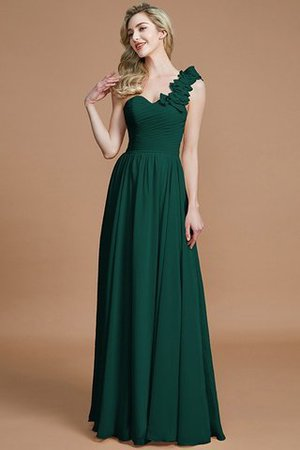 Sleeveless Natural Waist One Shoulder A-Line Chiffon Bridesmaid Dress - 14