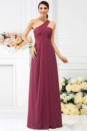 Zipper Up Long Floor Length A-Line Bridesmaid Dress - 5