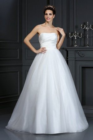 Sleeveless Zipper Up Court Train Ball Gown Natural Waist Wedding Dress - 1