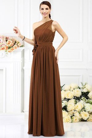 Long Sleeveless A-Line One Shoulder Bridesmaid Dress - 15