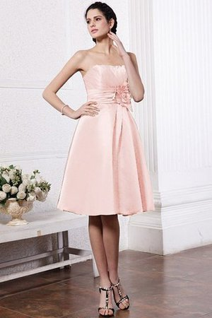 Zipper Up Princess Short Flowers Pleated Bridesmaid Dress - 20