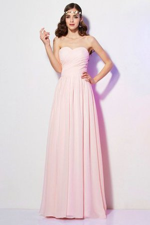Pleated Zipper Up Empire Waist A-Line Bridesmaid Dress - 1