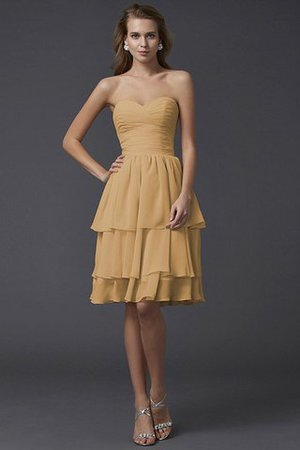 Short Chiffon Sheath Sleeveless Zipper Up Bridesmaid Dress - 12