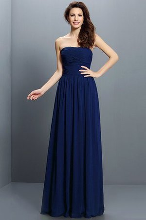 Strapless A-Line Pleated Zipper Up Bridesmaid Dress - 10