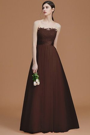 Tulle Zipper Up A-Line Appliques Bridesmaid Dress - 13