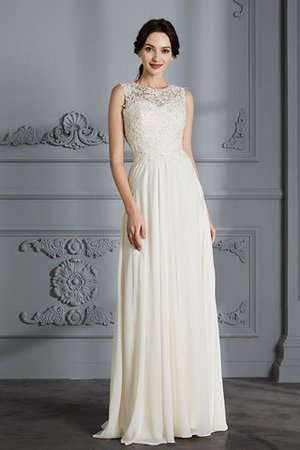 Floor Length Sleeveless Natural Waist Chiffon A-Line Wedding Dress - 6