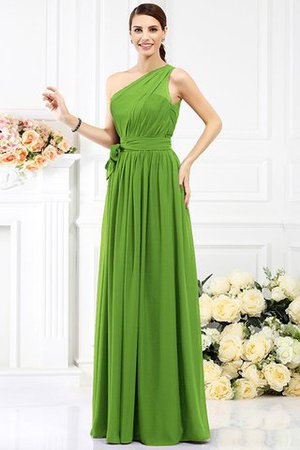 Long Sleeveless A-Line One Shoulder Bridesmaid Dress - 13
