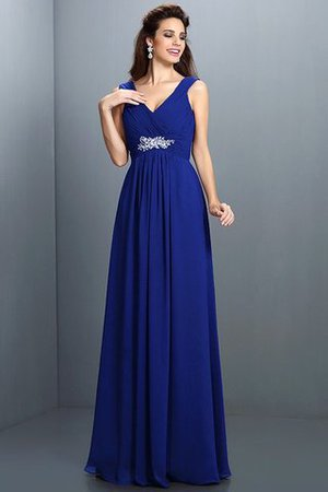 A-Line Chiffon Long Sleeveless Bridesmaid Dress - 26