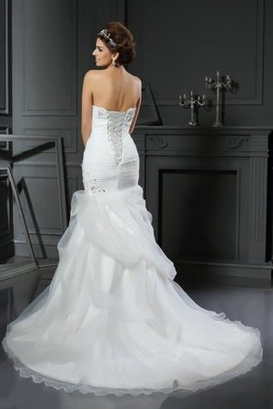Mermaid Long Sweetheart Beading Lace-up Wedding Dress - 2