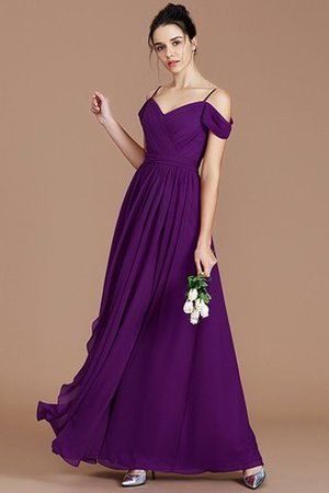 Chiffon Floor Length A-Line Ruched Bridesmaid Dress - 19