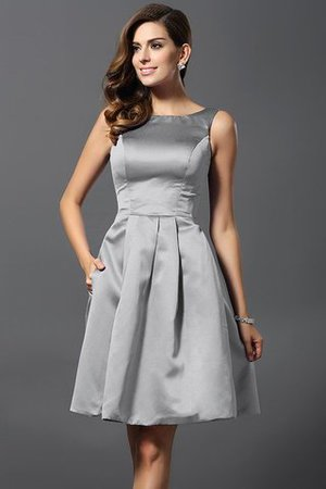 A-Line Knee Length Natural Waist Bridesmaid Dress - 27
