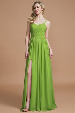 Natural Waist Sleeveless Floor Length Princess Chiffon Bridesmaid Dress - 19